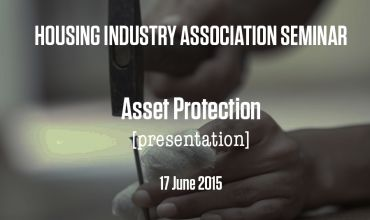 HIA Asset Protection Seminar
