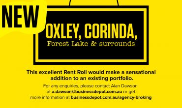 Rent Roll Only – Oxley, Corinda, Forest Lake and Surrounds