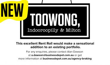 Rent Roll Only – Toowong, Indooroopilly and Milton